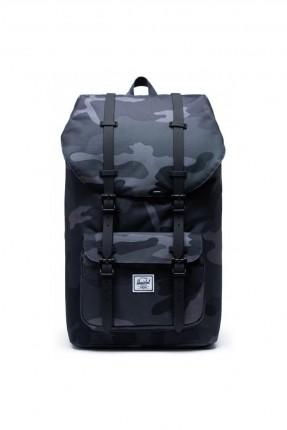حقيبة ظهر رجالية بنقشة مموهة وبكلات