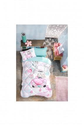 طقم لحاف سرير اطفال بناتي