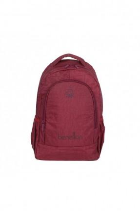 حقيبة ظهر رجالية بطبعة كتابة - خمري