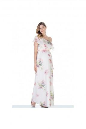 فستان حمل بنقشة الزهور