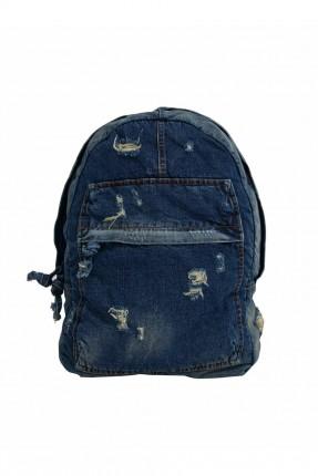 حقيبة ظهر رجالية جينز ممزقة