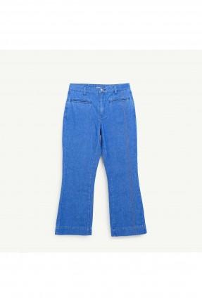 بنطال نسائي جينز بارجل واسعة