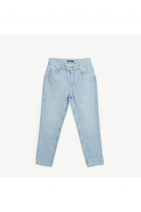 بنطال نسائي جينز بجيب وقصة مستقيمة
