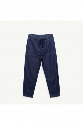 بنطال نسائي جينز بخصر مطاطي وجيب