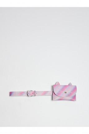 حزام اطفال بناتي مزين بحقيبة