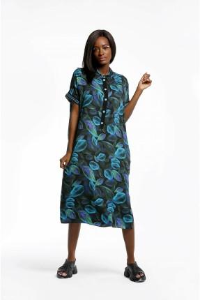 فستان سبور بطبعة اوراق الشجر