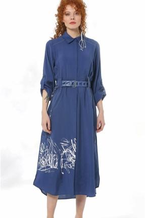 فستان سبور بطبعة خطوط