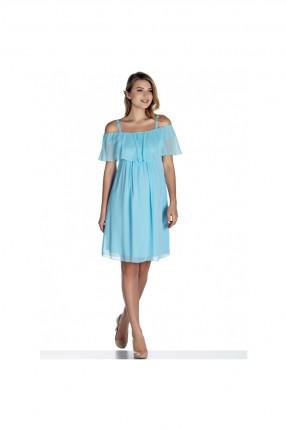 فستان حمل حفر - ازرق