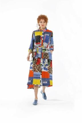 فستان سبور ملون مع طبعة ورود