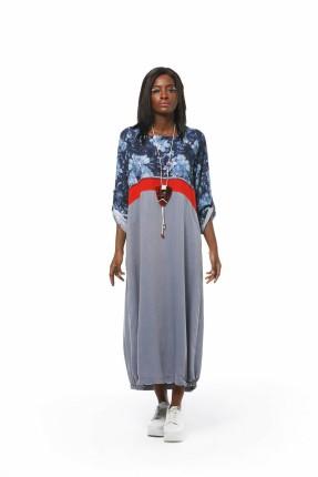 فستان سبور بطبعة ورود