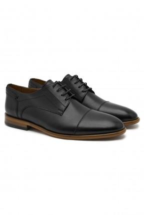 حذاء رجالي جلد كاجوال - اسود