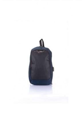 حقيبة ظهر رجالية مزينة بنمط لونين