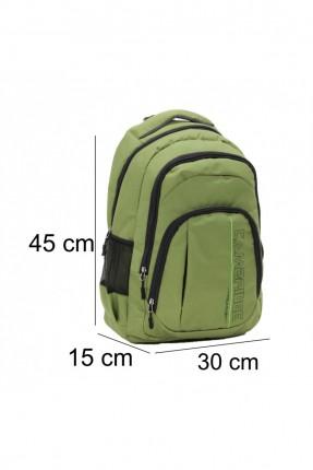 حقيبة ظهر رجالية مزينة بجيوب جانبية - اخضر