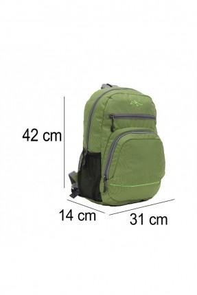 حقيبة ظهر رجالية مزينة بسحابات - اخضر