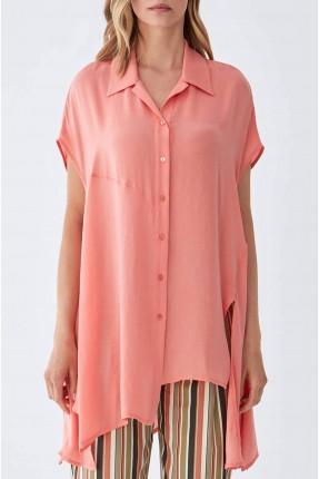 قميص نسائي غير متوازي الطول