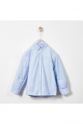 قميص اطفال ولادي سادة اللون - ازرق
