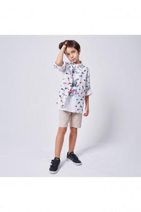 قميص اطفال ولادي مزين برسومات ملونة