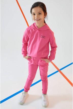 بيجاما رياضية اطفال بناتي جوجير بكابيشون - زهري