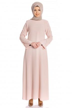 فستان رسمي سادة اللون - زهري