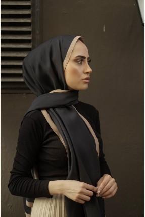 حجاب نسائي بلونين