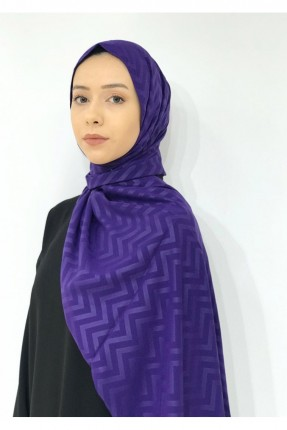 حجاب نسائي بنقشة زيكزاك