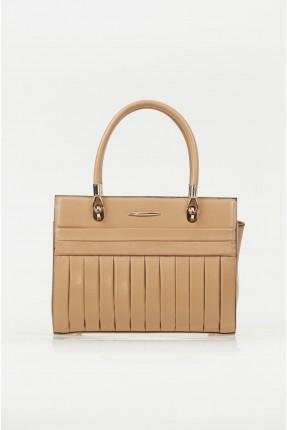 حقيبة يد نسائي مزينة بسحاب خلفي