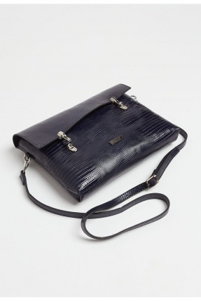 حقيبة يد نسائي جلد - كحلي