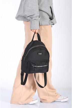 حقيبة ظهر نسائية سادة اللون - اسود