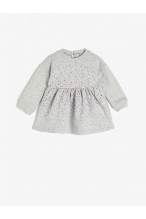 فستان بيبي بناتي مزين بالترتر