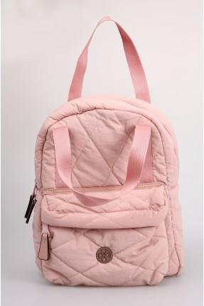 حقيبة ظهر نسائية بسحاب خارجي - زهري