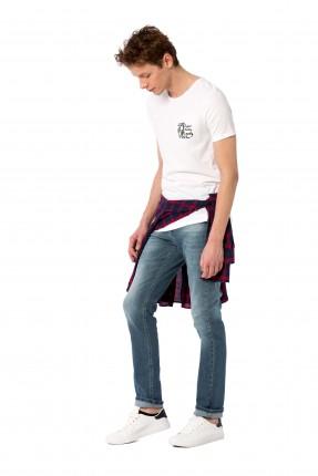 بنطال رجالي جينز سليم فيت بجيب