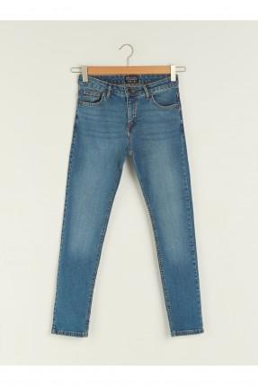 بنطال رجالي جينز مزين بكحتة