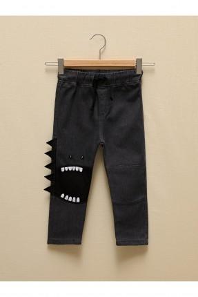 بنطال بيبي ولادي جينز بجيب وطبعة