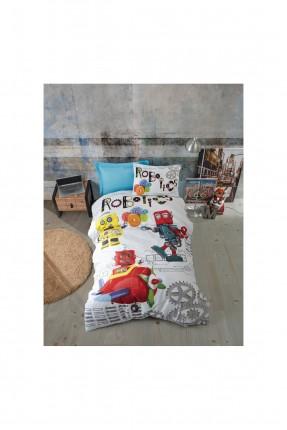 طقم غطاء سرير اطفال ولادي مزين برسومات