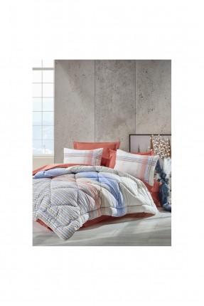 طقم لحاف سرير مزدوج مخطط