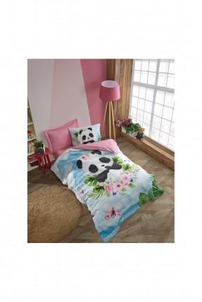 طقم غطاء سرير اطفال بناتي مزين بالرسم