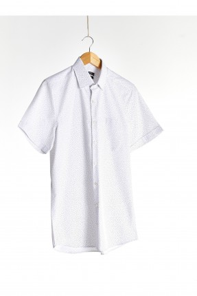 قميص رجالي مزين بجيب جانبي