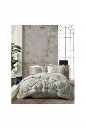 طقم لحاف سرير مزدوج مزخرف