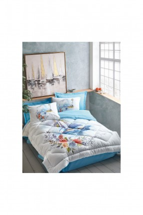 طقم لحاف سرير فردي مزين بالرسم