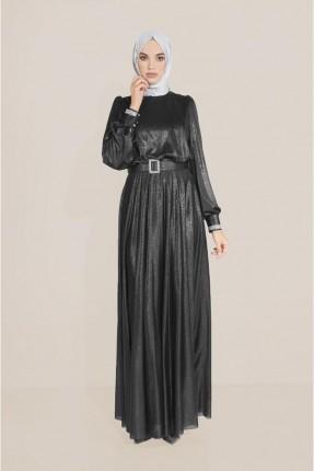 فستان رسمي بلمعة - اسود