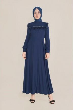 فستان طويل كلوش - كحلي