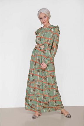 فستان مزين بنقشة مزخرفة