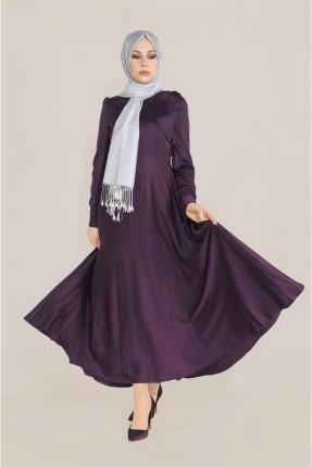 فستان باكمام طويلة - بنفسجي