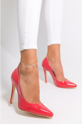 حذاء نسائي ذو لمعة - فوشيا