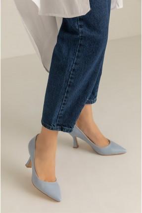 حذاء نسائي سادة اللون - ازرق