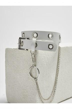 حزام اطفال بناتي مزين بحلقات معدنية