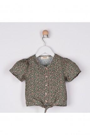 قميص بيبي بناتي بنقشة زهور