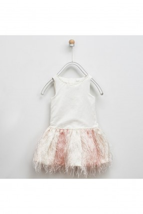 فستان اطفال بناتي مزين بشراشيب