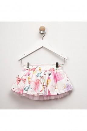 تنورة بيبي بناتي برسومات ملونة