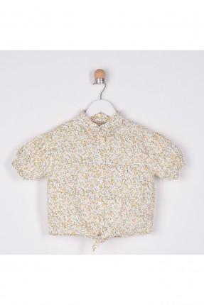 قميص اطفال بناتي بنقشة زهور